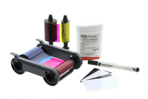 Consommables imprimantes à cartes : rubans et kit d'entretien Evolis